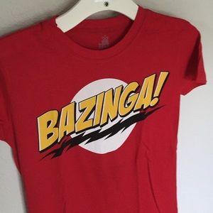"""The Big Bang Theory """"Bazinga"""" Red T-Shirt"""